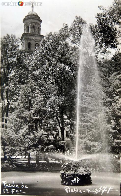 La Fuente de San Francisco Hacia 1945