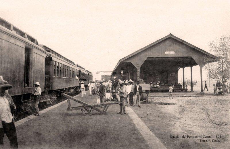 Torreón, Estación del Ferrocarril, 1894
