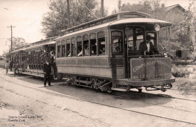 Torreón, Tranvía Torreón-Lerdo, 1897
