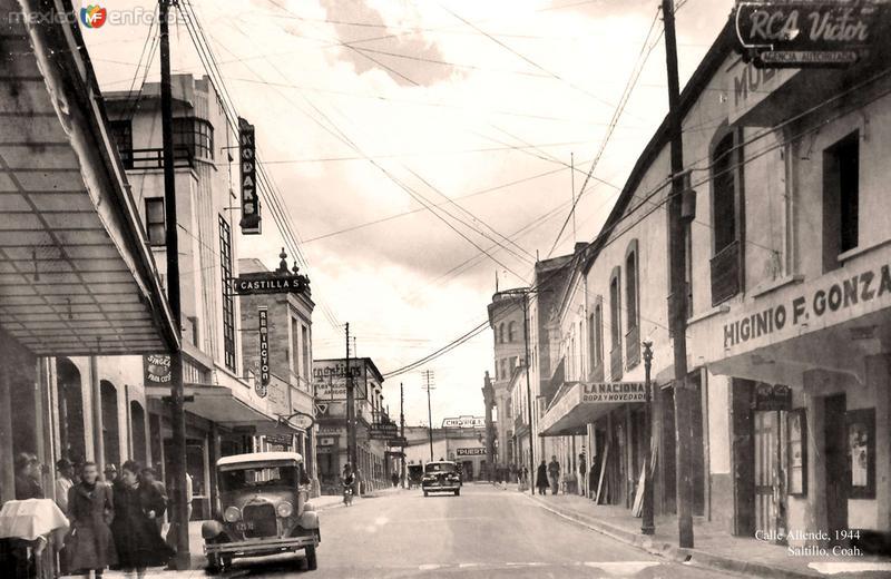 Saltillo, Calle Allende, 1944