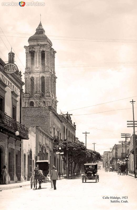 Saltillo, Calle Hidalgo, 1923