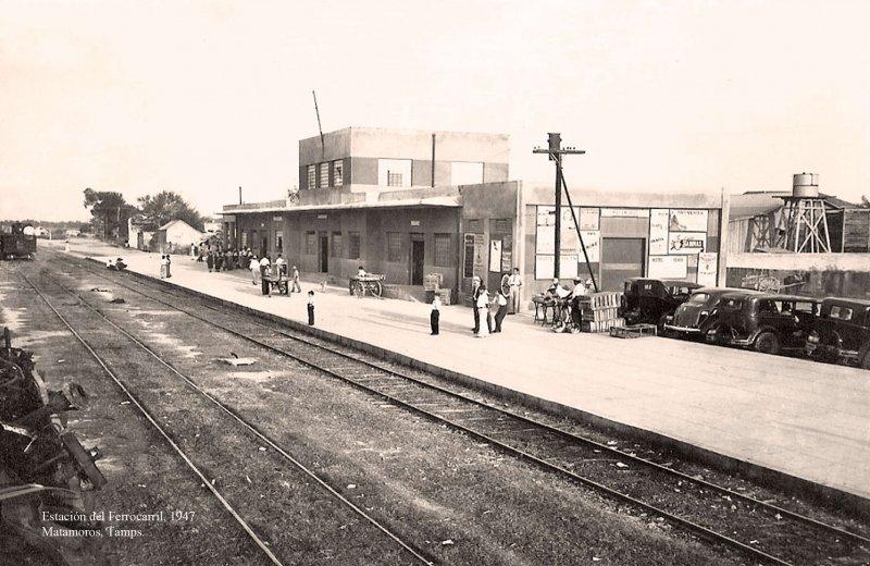 Matamoros, Estación del Ferrocarril, 1947