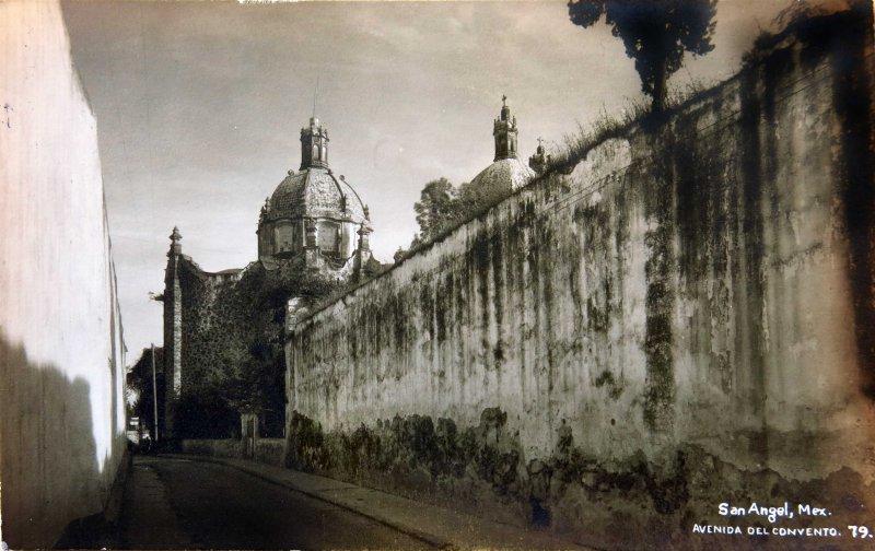 Avenida del Convento SAN ANGEL Hacia 1930