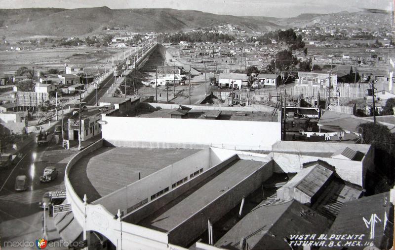 Vista de el puente Hacia 1945