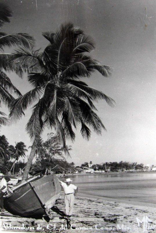 Alrededores de Ciudad del Carmen Hacia 1945