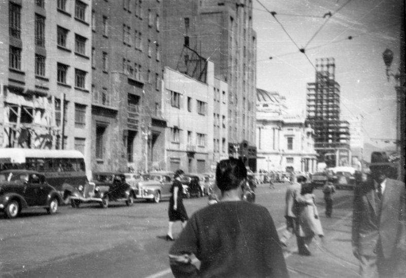Calles de la Ciudad de México en la década de 1940
