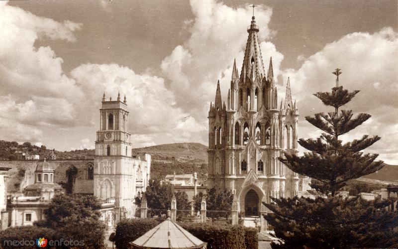 Vista de la parroquia (c. 1940)