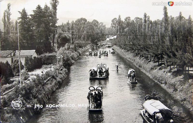 Xochimilco Los Canales Hacia 1945