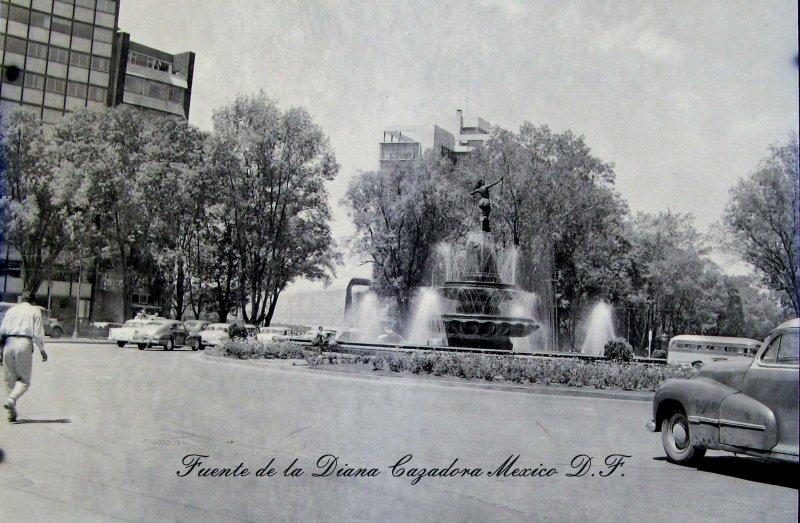 Fuente Diana Cazadora Paseo de la Reforma Hacia 1955