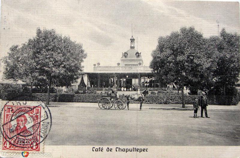 Cafe en el Castillo de Chapultepec Hacia 1908