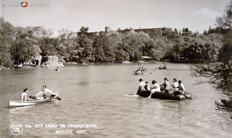Lago de Chapultepec Hacia 1945