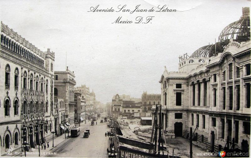 Avenida San Juan de Letran Hacia 1920