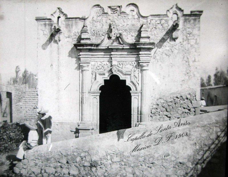 Iglesia de Santa Anita y Canal de la Viga Hacia 1908