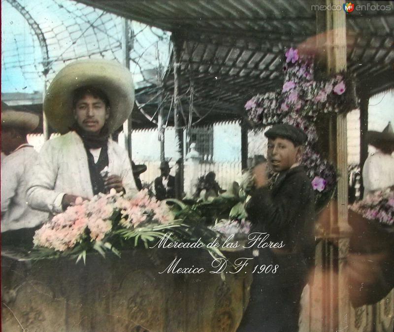 Mercado de las Flores Hacia 1908