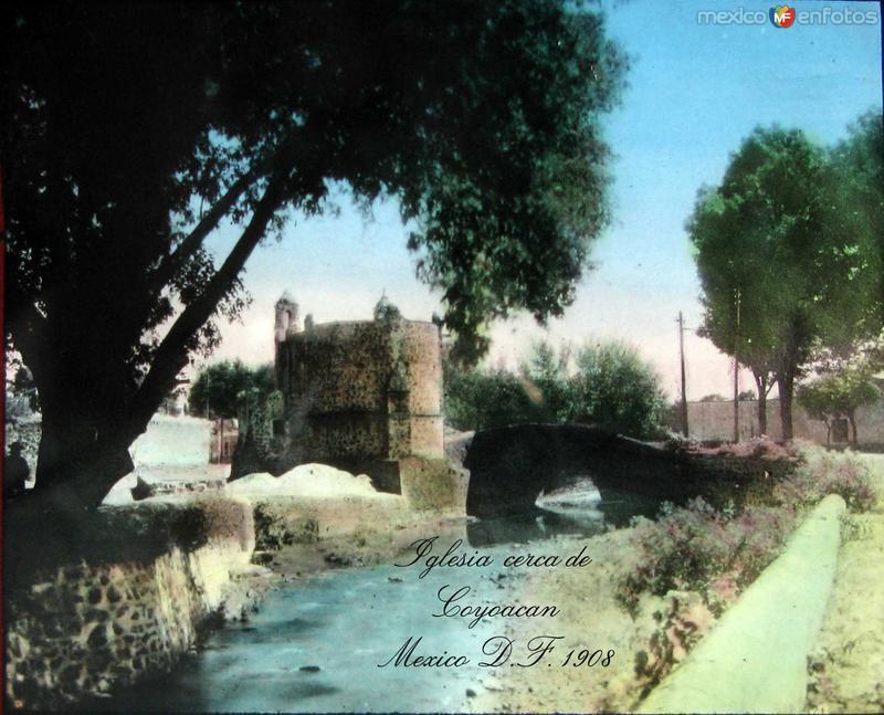 Iglecia cerca de Coyoacan Hacia 1908
