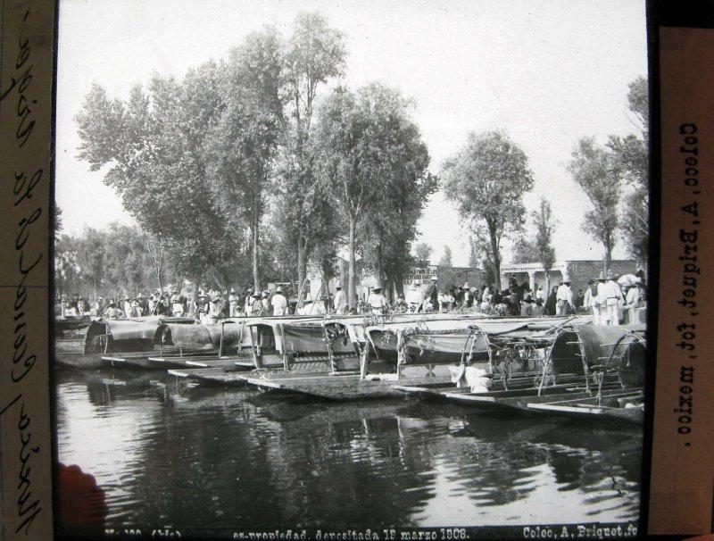 Canal de la Viga por el fotografo ABEL BRIQUETTE Hacia 1908