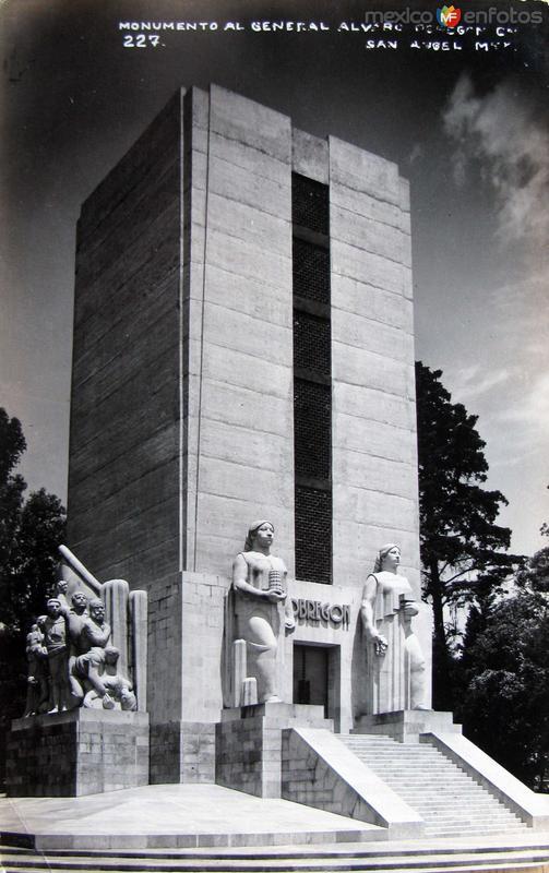 Monumento a Alvaro Obregon Hacia 1945