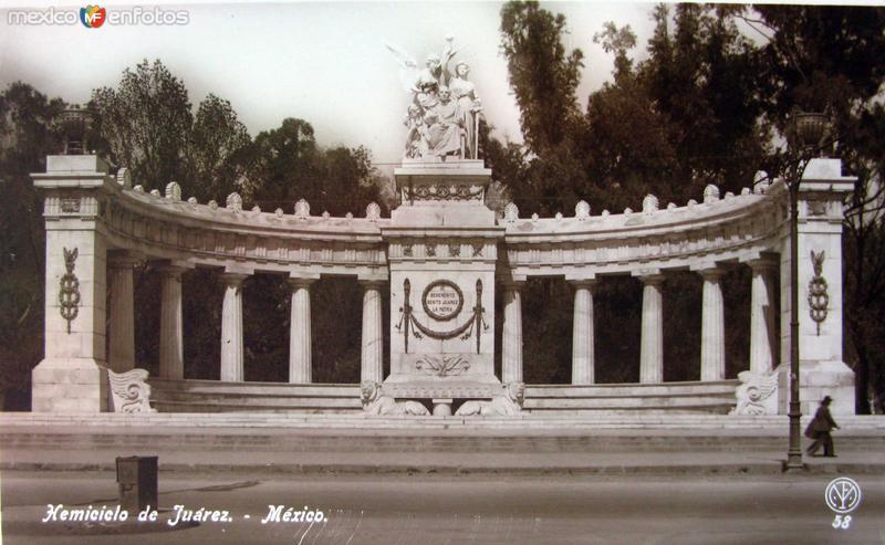 Monumento a Juarez Hacia 1930