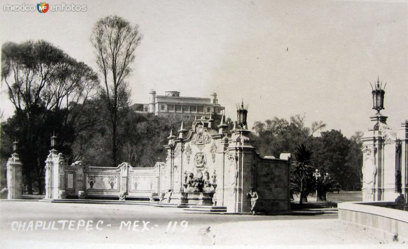 Chapultepec Hacia 1939