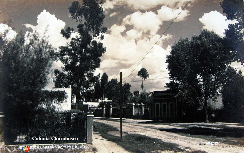 Colonia Churubusco General Anaya Hacia 1945