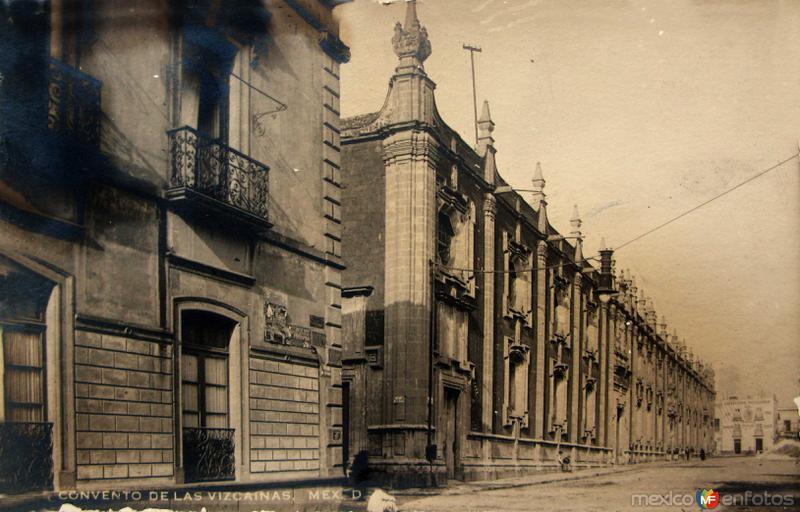 Convento de Las Vizcainas Hacia 1935