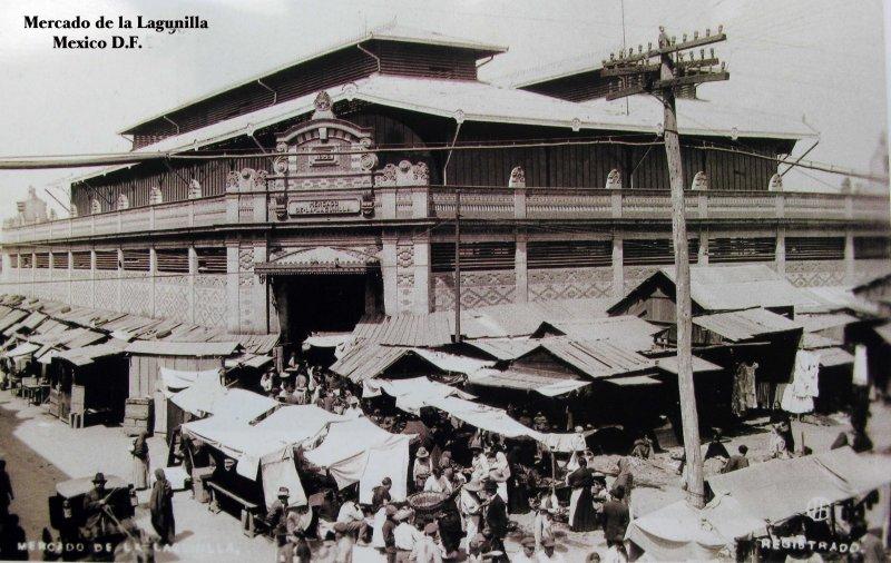 Mercado de La Lagunilla Hacia 1930