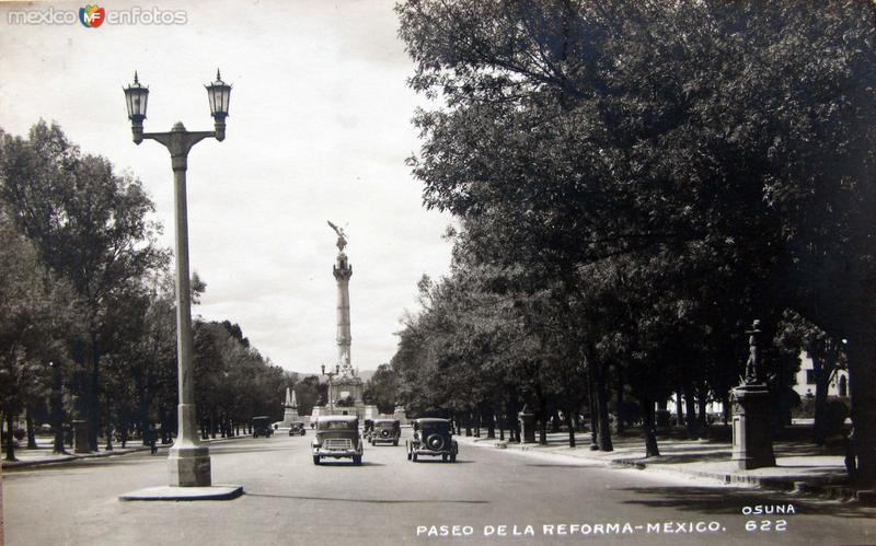 Paseo de la Reforma Hacia 1940