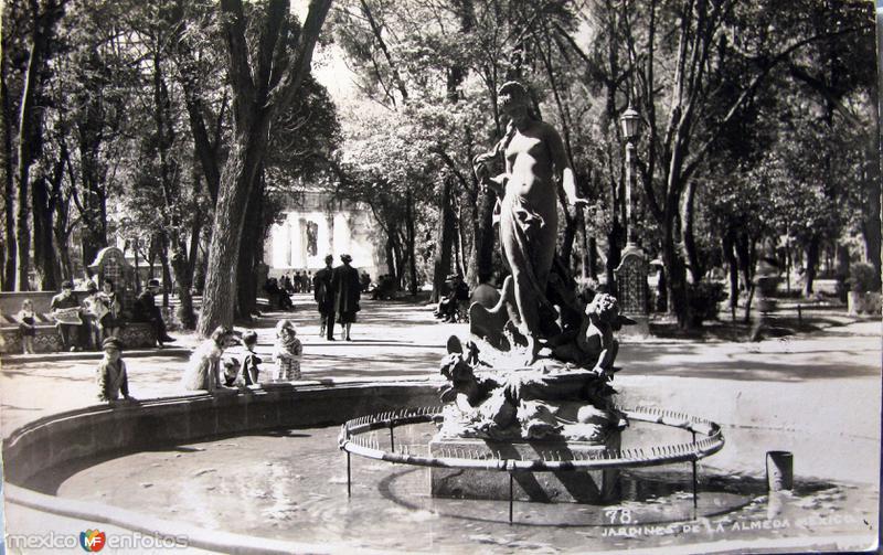 Jardines de laAlameda Hacia 1945