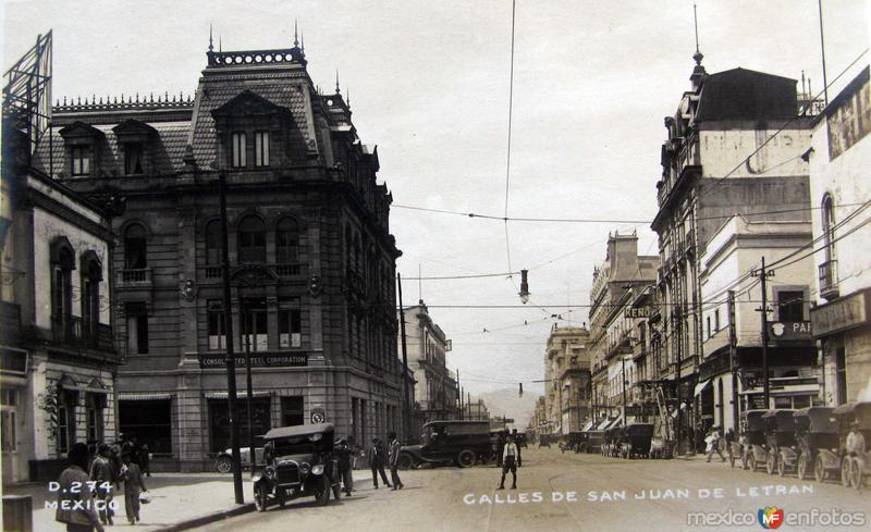 Calle de San Juan de Letran Hacia 1920
