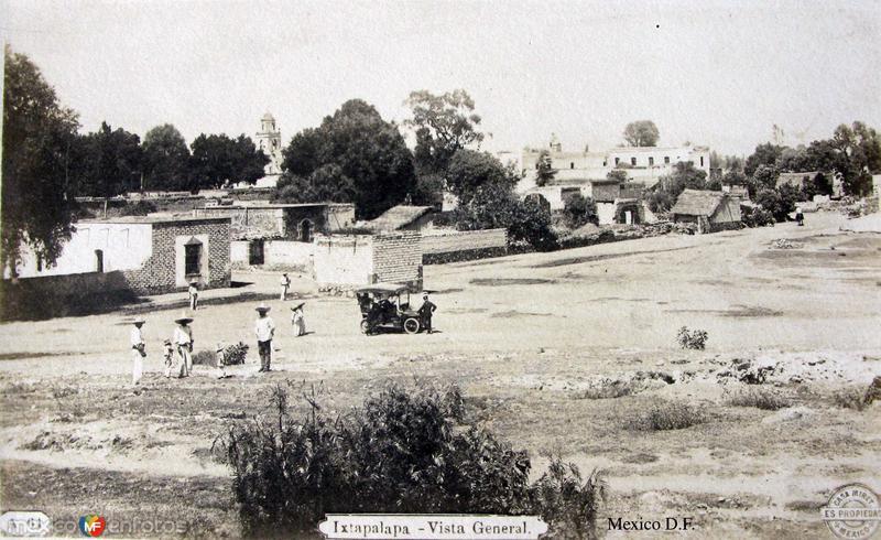 Panorama de Ixtapalapa por el fotografo FELIX MIRET Hacia 1910