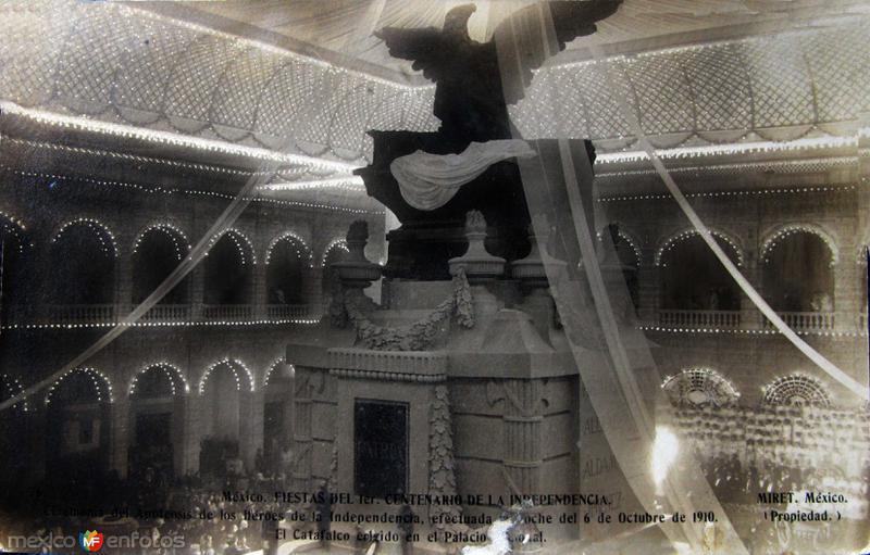 Fiestas del Centenario Sep-16-1910 por el fotografo FELIX MIRET Hacia 1910