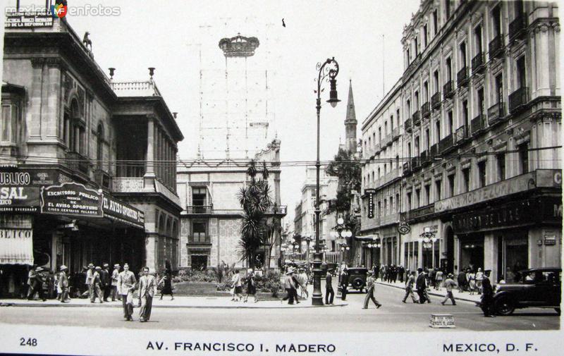 Avenida Francisco I Madero Hacia 1945