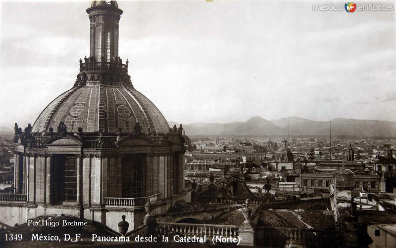 Panorama desde la Catedral por el Fotografo Hugo Brehme Hacia 1930