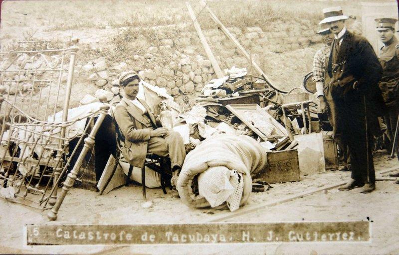 Catastrofe en Tacubaya Por H J Gutierrez Hacia 1929
