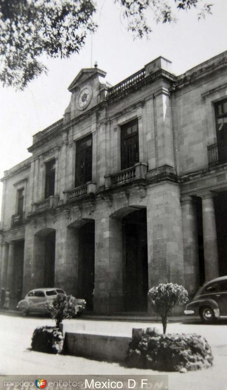 Tlalpan Edificio de Gobierno Hacia 1945
