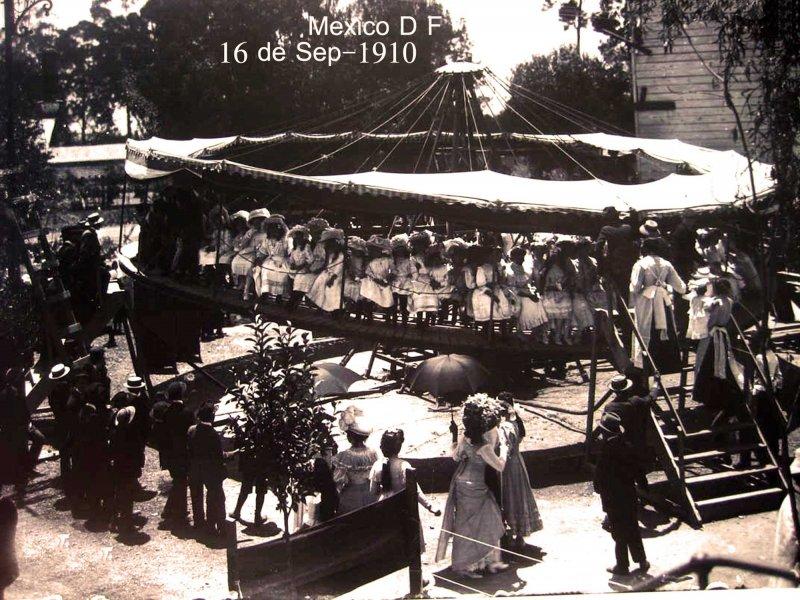 Fiesta durante el CENTENARIO Sep-16 1910 Hacia 1910