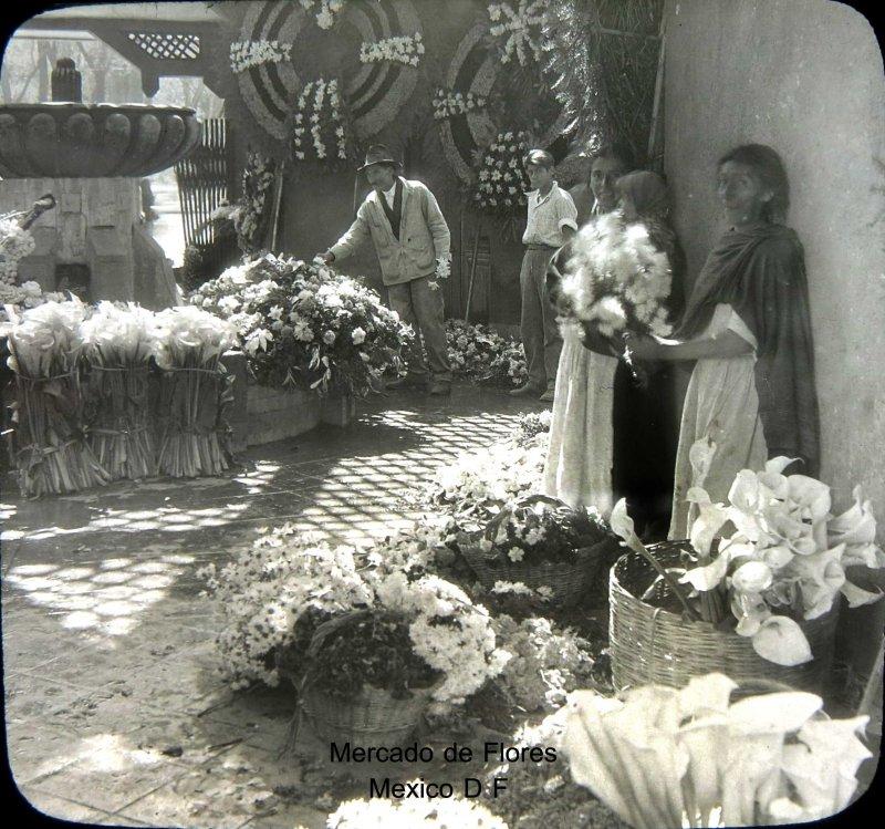 Mercado de las Flores Hacia 1930