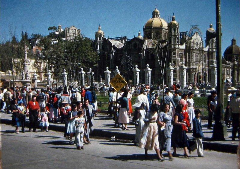 Basilica de Guadalupe PANORAMA Hacia 1950