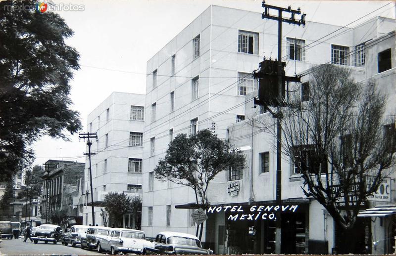 Hotel Genova hacia 1945