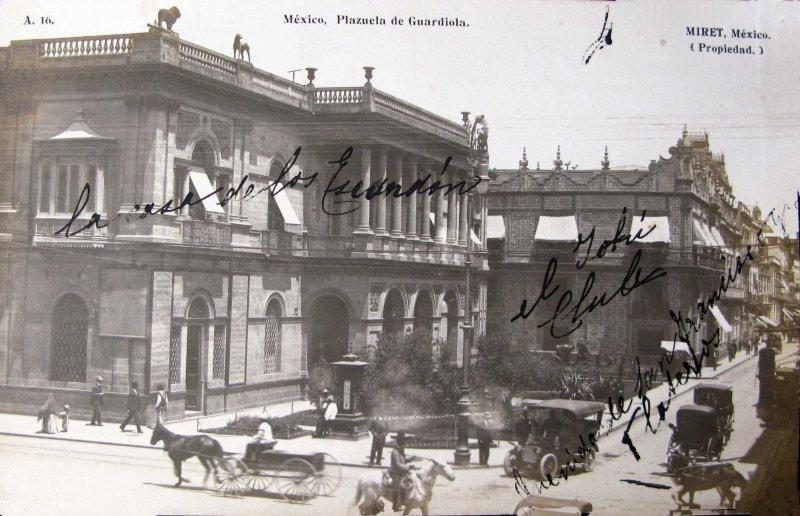 Plazuela de Guardiola por el fotografo FELIX MIRET Hacia 1910