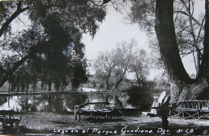 Lago y Parque Guadiana Hacia 1945