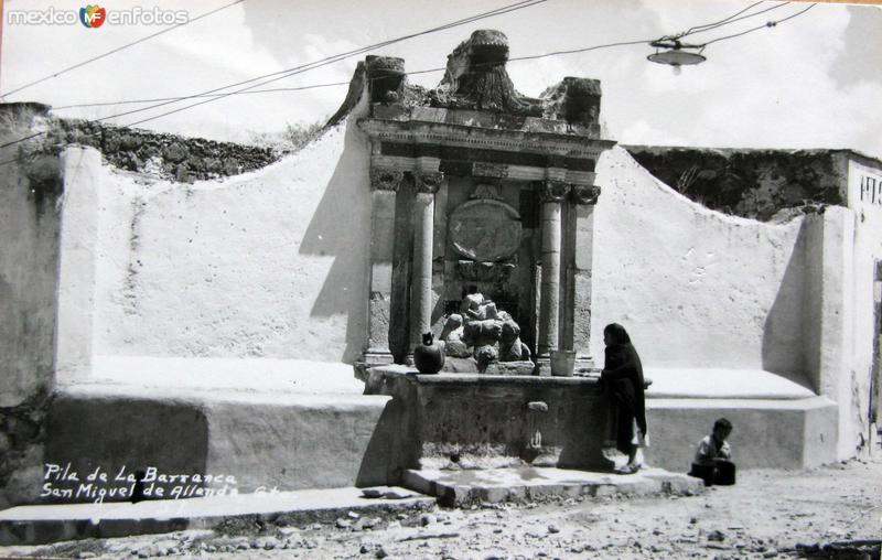 Pila de la Barranca Hacia 1945