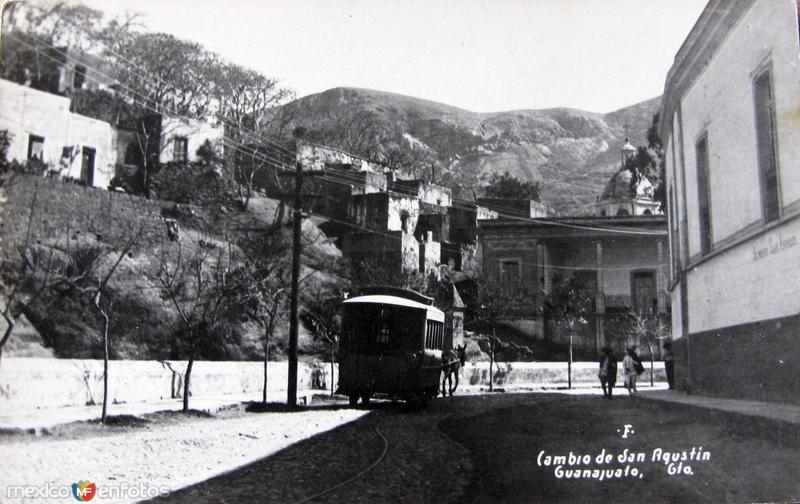 CAMBIO DE SAN AGUSTIN Hacia 1909