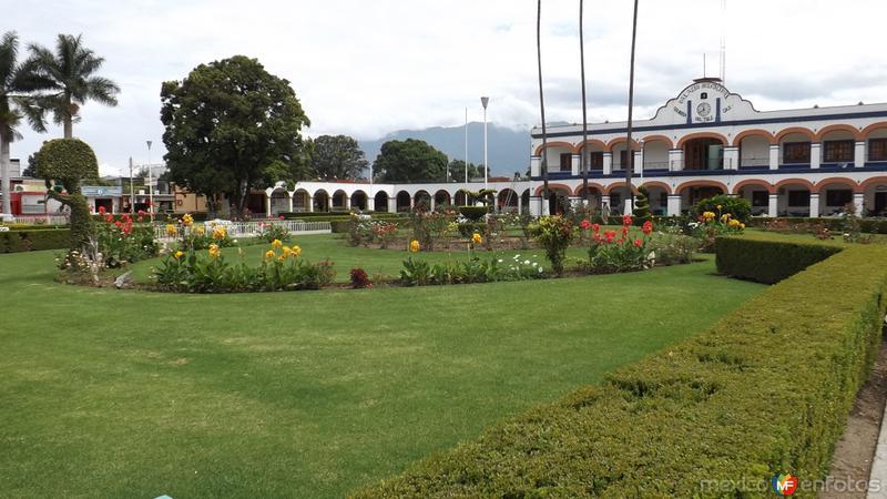 Parque central y Palacio Municipal. Julio/2014