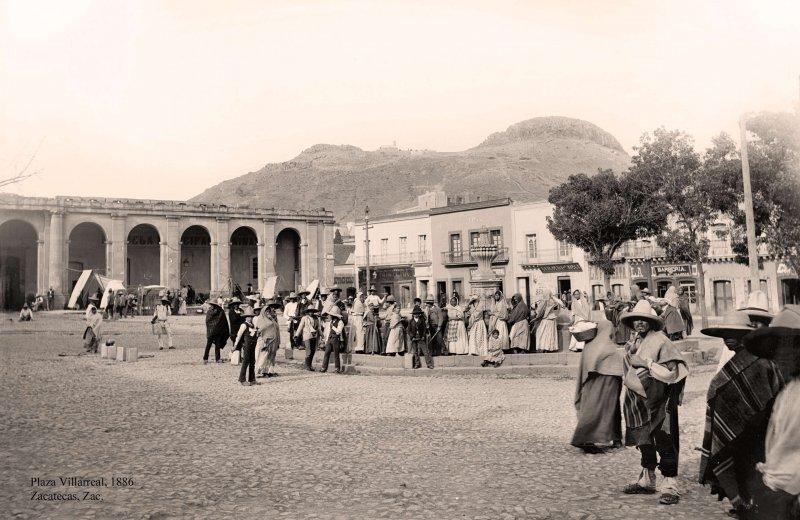 Zacatecas, Plaza Villarreal, 1886