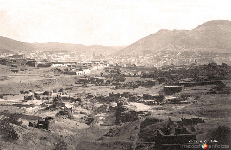 Zacatecas, vista desde las vías del Ferrocarril