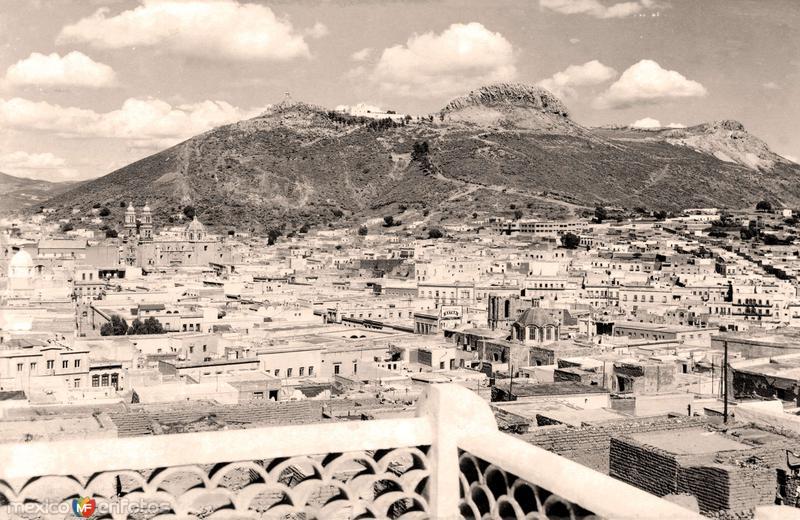 Zacatecas, vista panorámica, Cerro de la Bufa al fondo