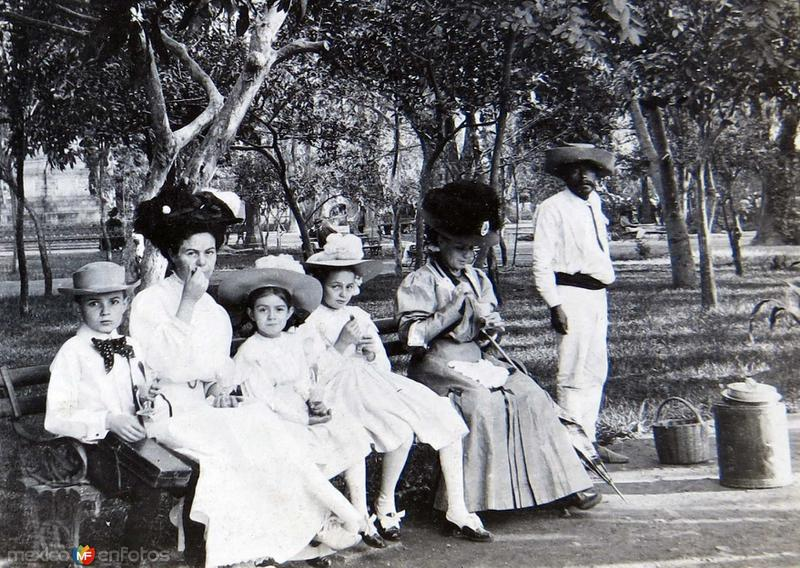 Plaza Principal de Oaxaca Hacia 1900
