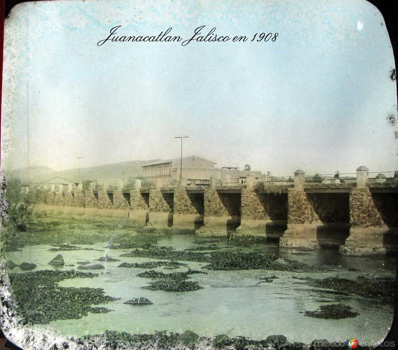EL SALTO Y EL PUENTE Hacia 1900