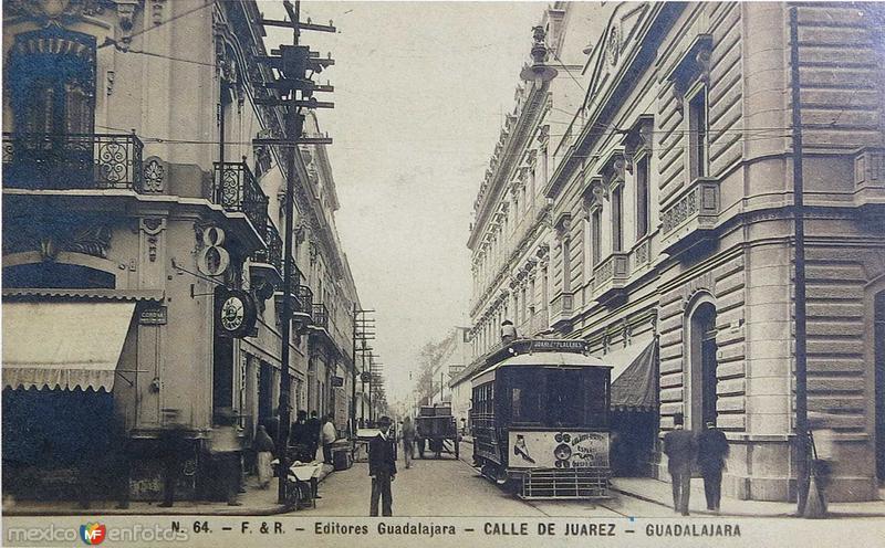 CALLE DE JUAREZ Hacia 1900